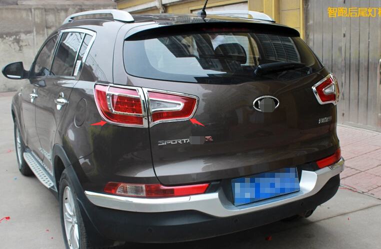 Yimaautotrims 4 Pcs For Kia Sportage 2011 2012 2013 2014 2015 ABS Chrome Rear Tail Light Lamp Frame Cover Trim Accessories for 2011 2012 2013 2014 2015 kia sportage high quality plastic abs chrome front rear bumper cover trim car styling accessories
