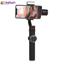 Metal 3 Axis Handheld Phone Gimbal Stabilizer For Smartphone mobile phone iphone GoPro 7 6 5  iPhone X 8 7 Plus Samsung S8 2019 funsnap caputure 2 three axis phone handle gimbal stabilizer for andriod ios smartphones gopro 5 6 7 action cameras
