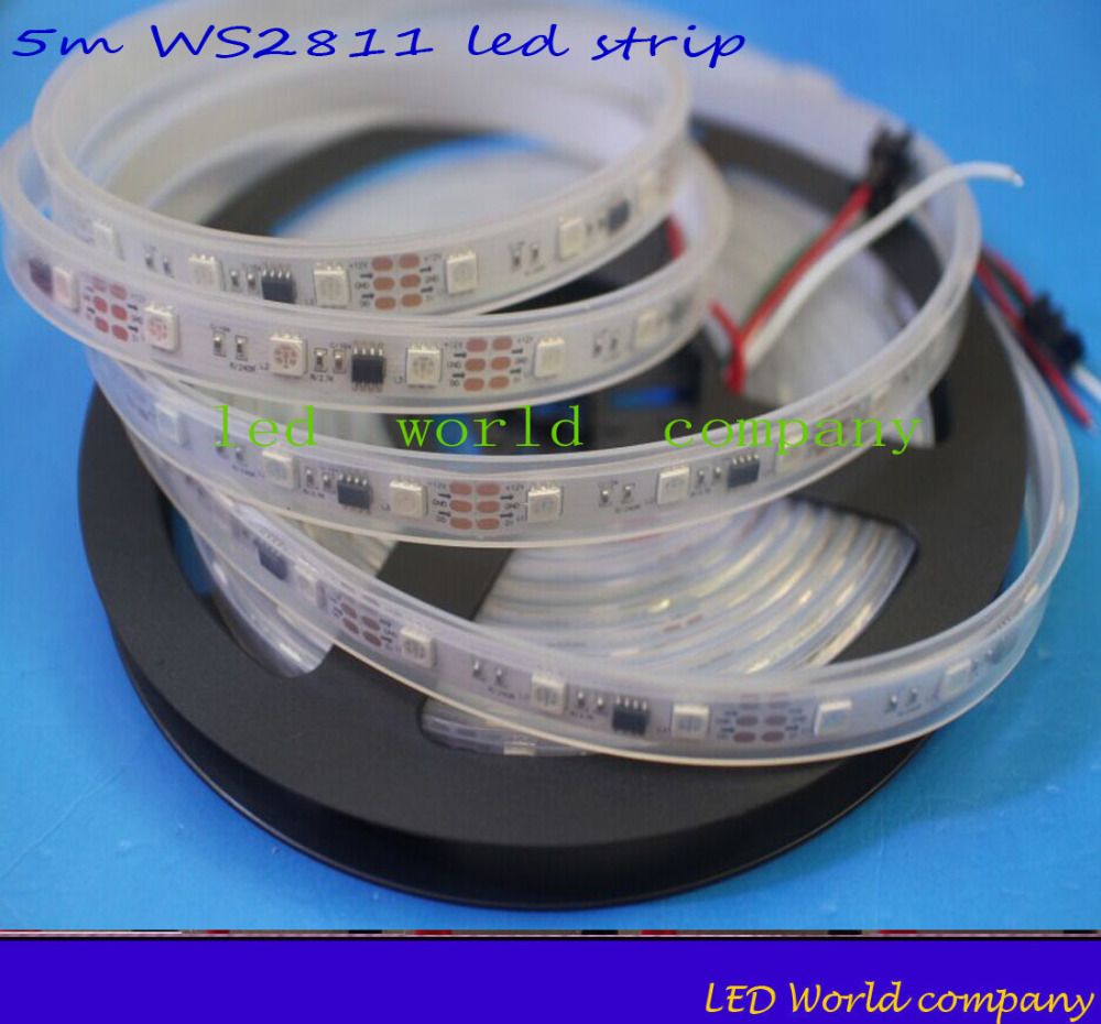 ws2811 led strip 5m 30 leds m 5m 60leds m casing. Black Bedroom Furniture Sets. Home Design Ideas