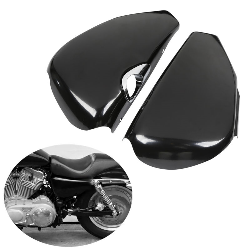 Motorcycle Left Right Side Battery Cover For Harley Sportster XL 1200 Iron 883 2004-2013 12 high qualityMotorcycle Left Right Side Battery Cover For Harley Sportster XL 1200 Iron 883 2004-2013 12 high quality