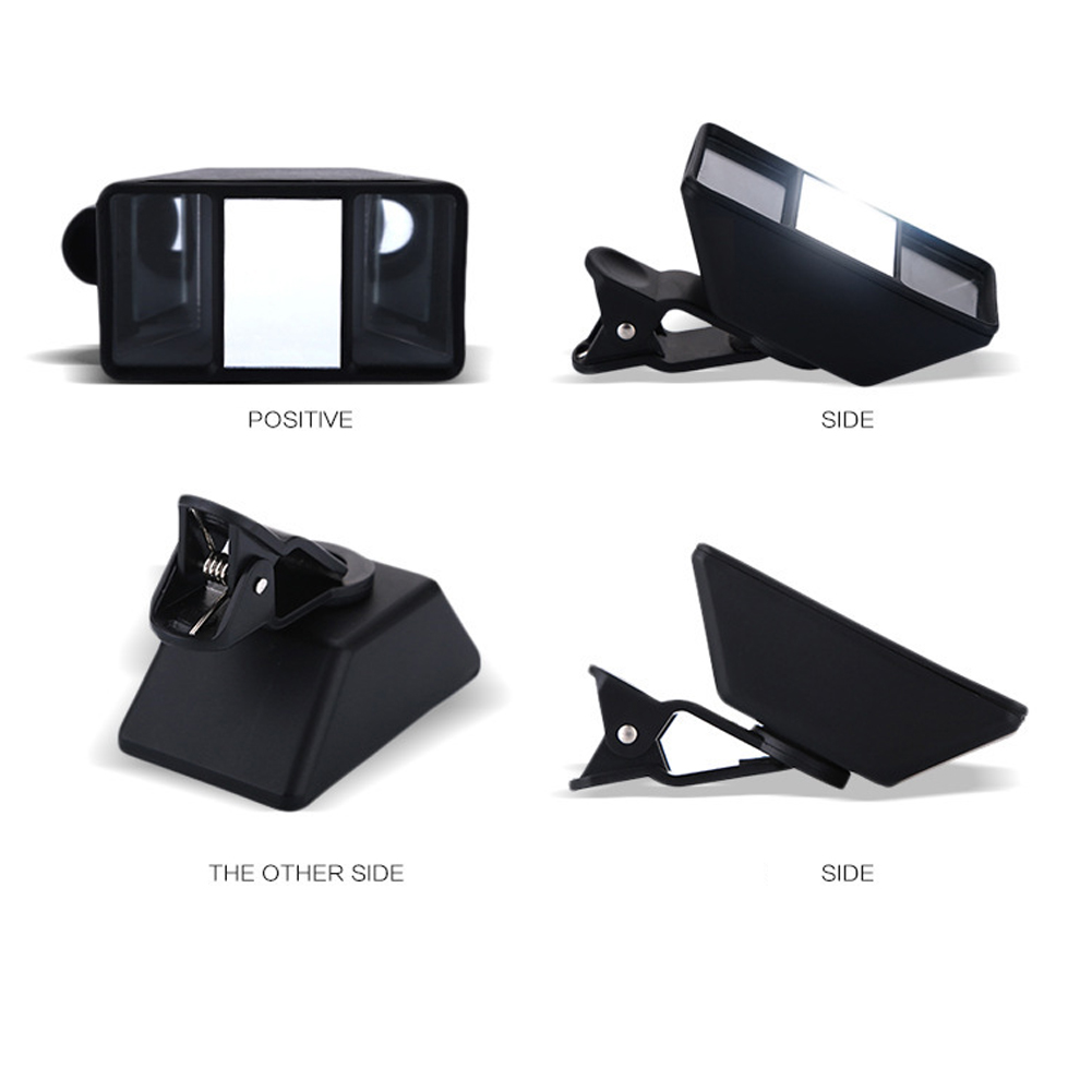 Video <font><b>Accessories</b></font> Stereo Photos ABS Black Self-Timer Mini Universal Mobile <font><b>Phone</b></font> Lens VR Clip-on Tablet 3D Effect <font><b>Camera</b></font> image