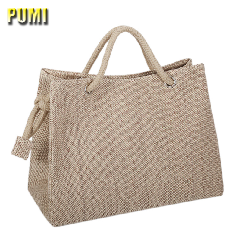 High Quality Women Linen Woven Luxury Tote Large Capacity Female Casual Shoulder Bag Lady Daily Handbag Fresh Beach Shopping Bag high quality travel canvas women handbag casual large capacity hobos bag hot sell female totes bolsas ruched solid shoulder bag