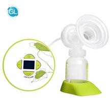 GL BPA Free Automatic Mamadeira Milk Pumps Brand Electric Intelligent Breast Pump with Music Single Bottle Breast Feeding Pump