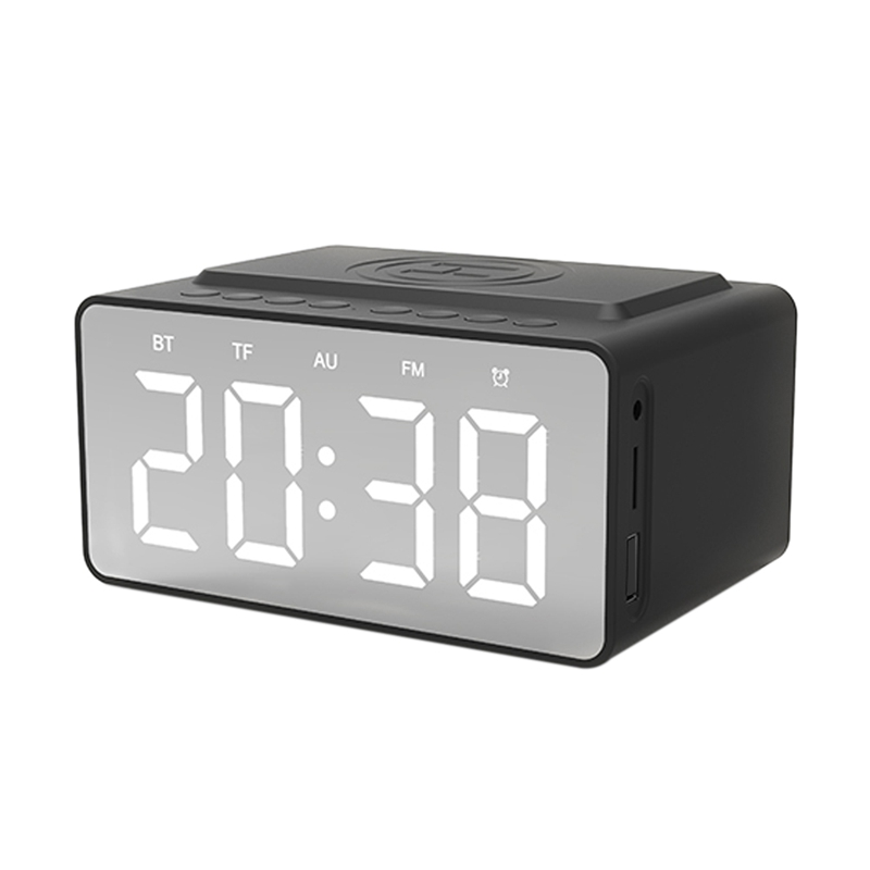 Bt-508 Wireless Bluetooth 5.0 Speakers Time Screen Display Double-Horn Subwoofer Alarm Clock Wireless Phone Charging Support T(China)