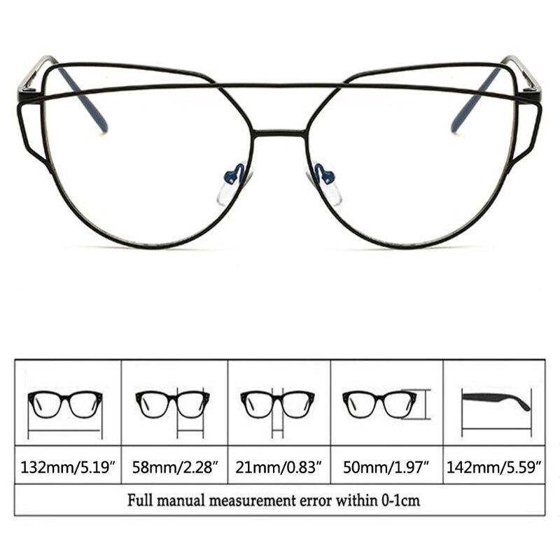 6d9e4ec932 Chic Classic Fashion Retro Vintage Metal Frame Cat Eye Eyeglasses Clear  Lens Eyewear Black Silver Gold New-in Eyewear Frames from Apparel  Accessories on ...