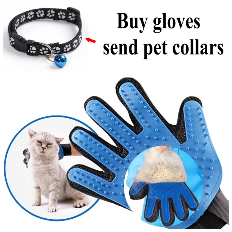 Pet Dog Grooming Hair Glove Cat Brush Comb For Pet Dogs Glove Cleaning Massage Hair Removal Brush Promote Blood Circulation