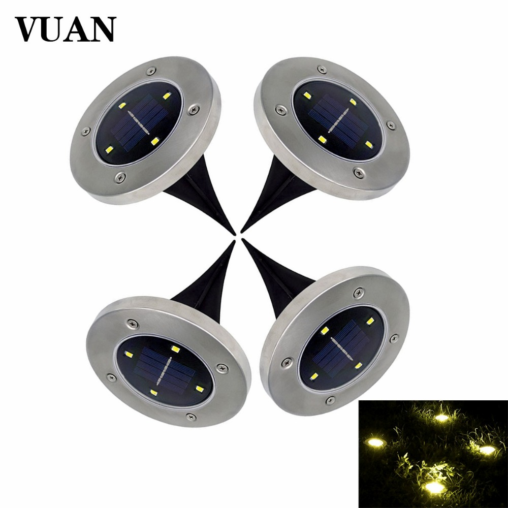 Outdoor Solar Lights In Ground: 4PCS/Lot LED Solar Light Outdoor 4 Leds Ground Light LED