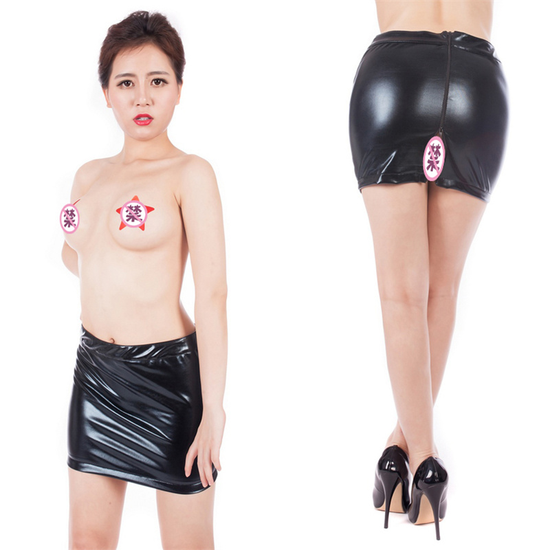 Fetish Slave <font><b>Spanking</b></font> Skirt Faux Leather Open Hip Bondage Sexy Lace Up Erotic <font><b>Dress</b></font> S&M Adult Game Sex Toy Products Costume image
