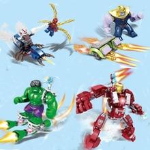 цены Super Heroes Legoing Marvel Avengers Endgame Iron Man Thanos Thor War Machine Spiderman Captain America Hulk Building Blocks Toy