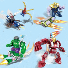 цена на Super Heroes Legoing Marvel Avengers Endgame Iron Man Thanos Thor War Machine Spiderman Captain America Hulk Building Blocks Toy