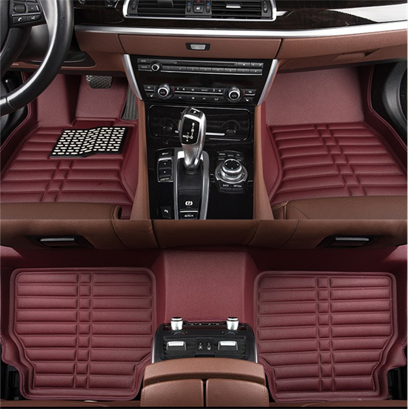 Auto Floor Mats For Toyota LAND CRUISER PRADO 120 2003-2009 Foot Carpets Step Mat HighQuality Water Proof Clean Solid Color Mats auto floor mats for honda cr v crv 2007 2011 foot carpets step mat high quality brand new embroidery leather mats