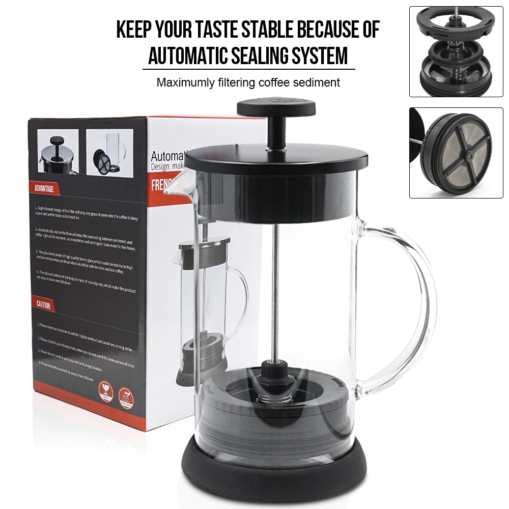 compare prices on coffee plunger glass online shoppingbuy low  - stainless french press pot coffee maker coffee plunger glass tea makerhandmade coffee filter press pots