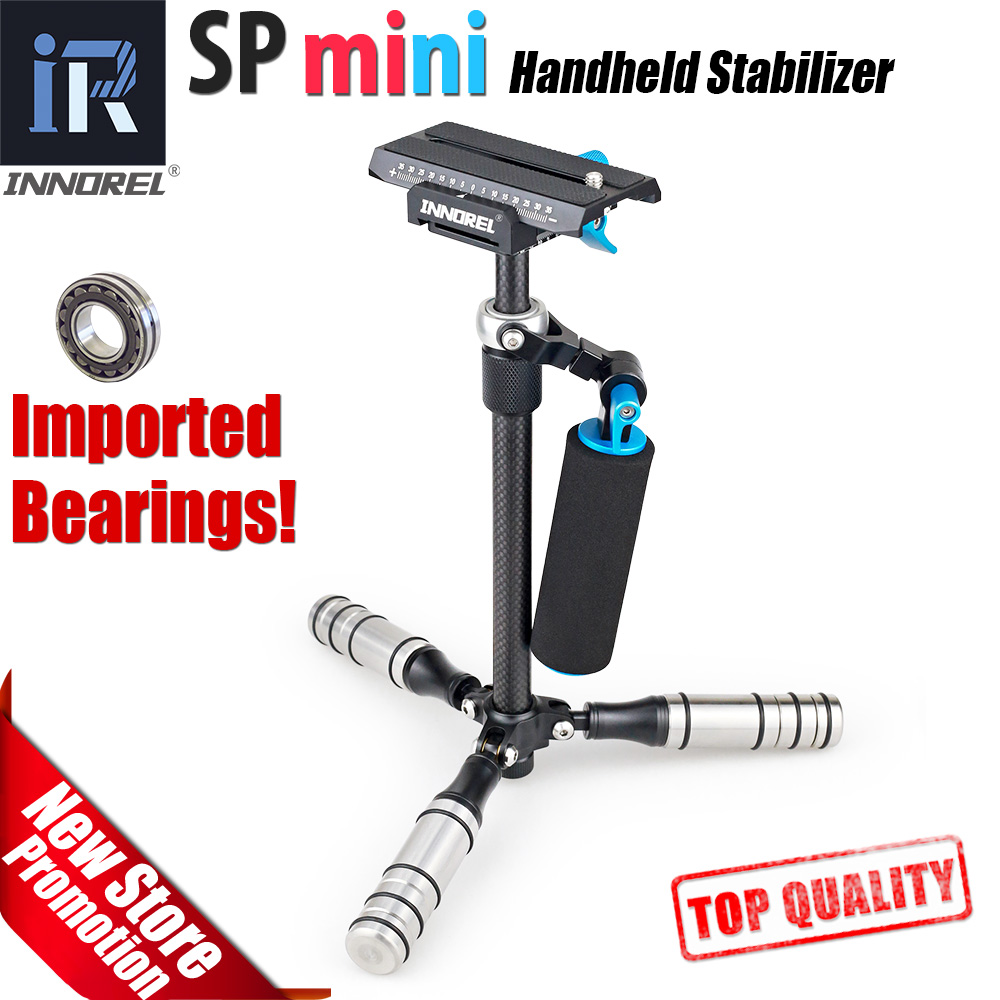 SP mini Handheld Stabilizer Lightweight Carbon Fiber steadicam for DSLR Video Camera DV Light Steady cam high build quality portable 2 axis handheld stabilizer video gimbal steadicam steady for dslr camera dv bmpcc
