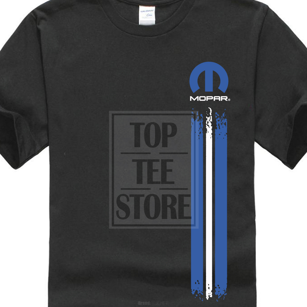 Personalized T Shirt Custom T Shirt Mopar Left Stripe Logo Men'S Tee Shirt