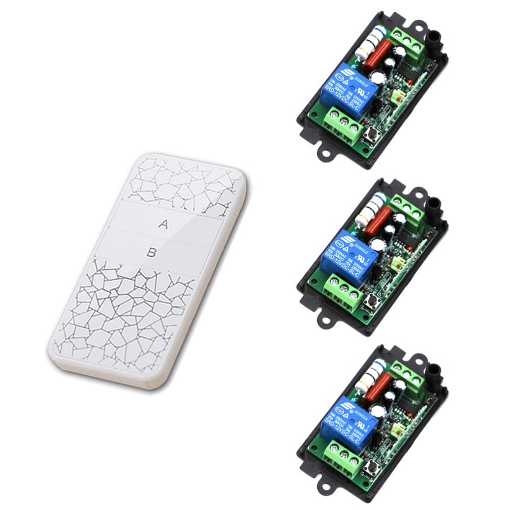 AC220V 110V 1CH RF Wireless Remote Control Switch System 220V Relays Receiver Remote Control Transmitter 315/433MHZ for Choose ac220v 1ch 10a rf wireless remote control switch system teleswitch 1 transmitter
