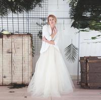 الأوروبية والأمريكية نمط طويل توتو التنانير تنورة الزفاف رومانسية تول التنورة مخصص عالية الجودة مخصصة