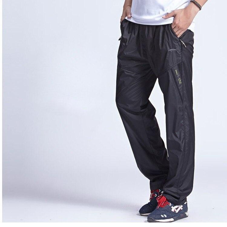 homens ativo elástico na cintura calças de exercício, pa214