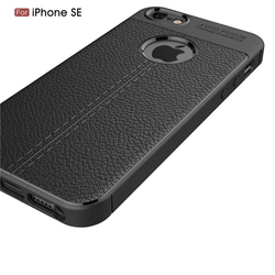 For iPhone 5S Case iPhone Se Cover Vpower Lichee Pattern Shock Proof Soft TPU Cases For Apple iPhone 5 5S Se Phone Back Covers 3
