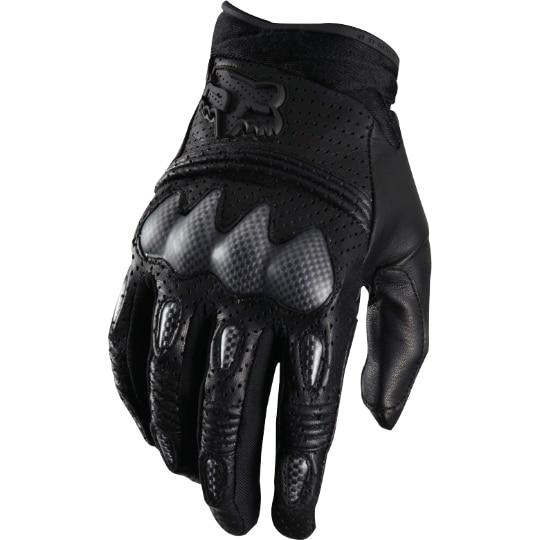 2015 BLACK Genuine Leather Fox Racing Bomber Gloves - Motocross Dirtbike MX ATV Mens Riding Gear Knight Equipment Shop's store
