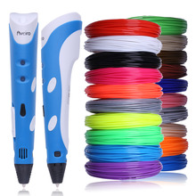3D Pen DIY Smart 3D Printing Pen 3 D Drawing Pens Printer With Free ABS Filament Creative Gift For Kids Design Painting