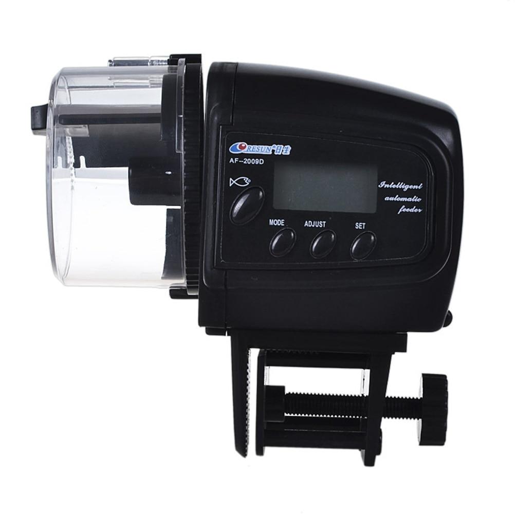Aquarium fish tank automatic fish feeder - New Af 2009d Automatic Fish Food Feeder With Lcd Timer For Aquarium Tank Black
