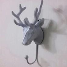 The clothing hanger hook hook iron European deer head single hook hanging wall hanging clothing hanger frame display shipping
