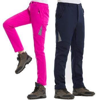 S-5XL zimowe Outdoor Camping piesze wycieczki spodnie do wędrówek pieszych mężczyźni wodoodporne termiczne polarowe wiatroszczelne spodnie Soft shell kobiety spodnie trekkingowe tanie i dobre opinie Pełnej długości Camping i piesze wycieczki NYLON Poliester SCRIOSADH Pasuje prawda na wymiar weź swój normalny rozmiar