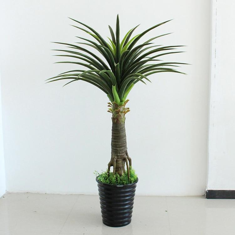 Faux plantes arbre 110 cm espadon ananas feuille arbre décoration intérieure verdure artificielle plastique fleur plantes artificielles