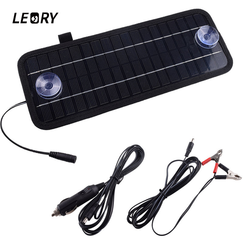 LEORY Hot 12V 4.5W <font><b>Solar</b></font> Panel Portable Monocrystalline <font><b>Solar</b></font> Charger Module For Car Automobile Boat Rechargeable Power Battery