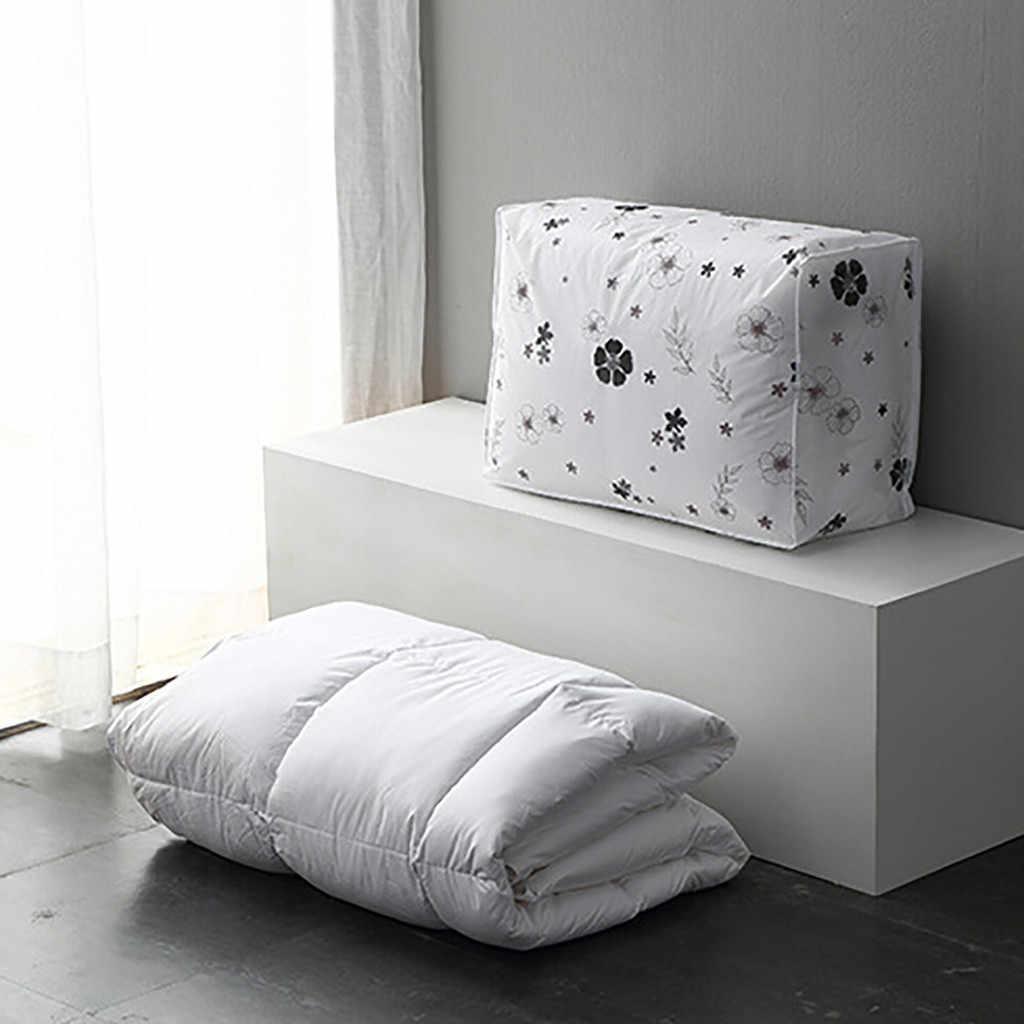 Dobrável Sacos De Armazenamento Saco Organizador Dobrável para Roupas Quilt Cobertor Travesseiro Bagagem Respirável Closet Organizer Dropshipping