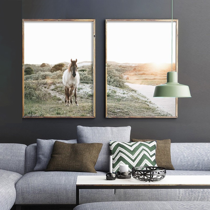 Nordic-Decoration-Home-Horse-Wall-Art-Poster-Nature-Landscape-Wall-Art-Wall-Pictures-for-Living-Room