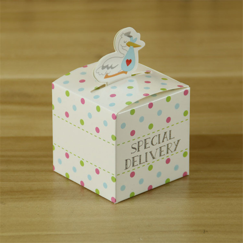 10pcs/lot Mini Special Delivery Duck Candy Box For Children Colorful Dot Baby Shower Birthday Party Favor Gift Box ...