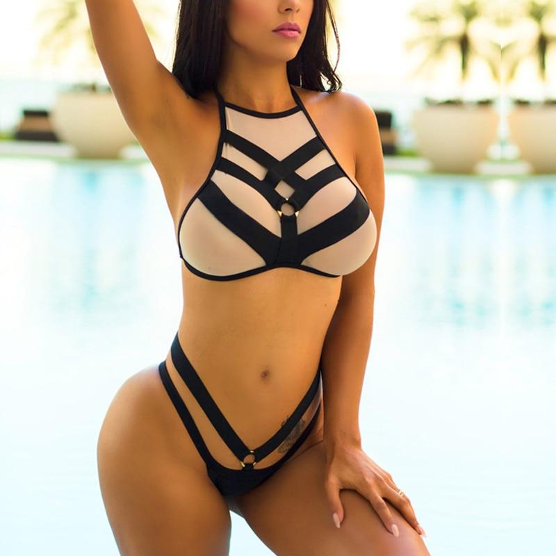 New Push Up Bikini Set Summer Criss-cross  Swimsuit