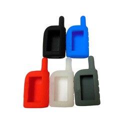 Coque en silicone 5 couleurs pour Scher-Khan Magicar | Coque 3/4 pour alarme de voiture bidirectionnelle, housse pour télécommande LCD Khan 3/4