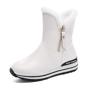 Image 3 - MORAZORA 2020 I Più Nuovi stivali da neve delle donne di tenere in caldo caviglia stivali zip punta rotonda pattini della piattaforma della donna di inverno piatto stivali nero
