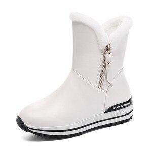 Image 3 - MORAZORA 2020 最新の雪のブーツ女性の暖かいアンクルブーツラウンドトウジップフラットプラットフォーム靴女性の冬のブーツ黒