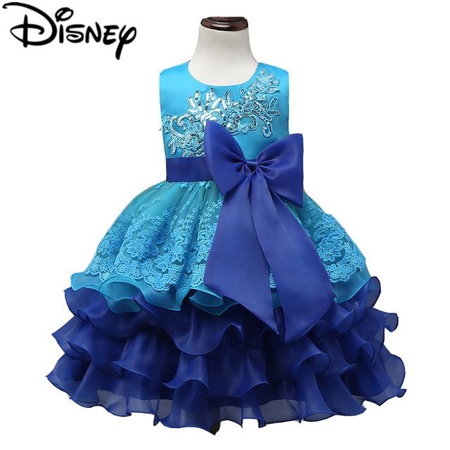 Disney Frozen Dress Formal Children Ball Gown Kids