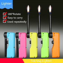 360 Degree Rotate Fold BBQ Lighter Easy To Carry Used Repeatedly Kitchen Gas Cooker Hit Musket Lighters