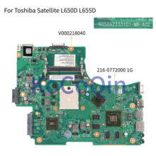 KoCoQin Laptop motherboard For Toshiba Satellite L650D L655D HD5650 Mainboard 6050A2333101-MB-A02 V000218040 216-0772000 1G AMD(China)