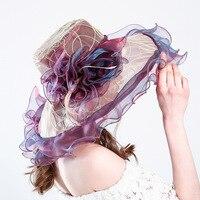 VIntage Lace Veil Wedding Hat for Bride Flower Embroidery Organza European Ladies Cocktail Banquet Hat Headdress