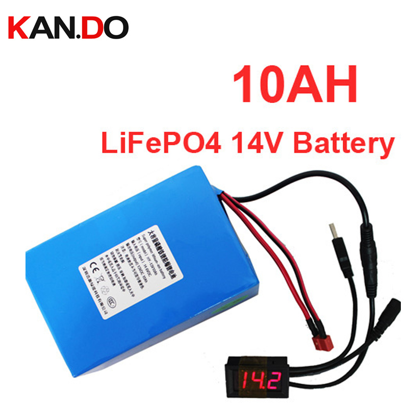lithium iron phosphate battery pack lithium battery 13v 14v lithium battery pack 2a charger 14V10AH battery pack LiFePO4 13V 4 string 12v high current lithium iron phosphate lithium battery charger 4a 14 8v rechargeable lithium battery