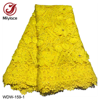 African Lace Fabric 2019 Embroidered Nigerian Laces Fabric Bridal Quality French Tulle Lace Fabric for Wedding Party WDW-159