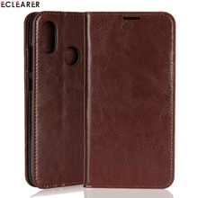 ECLEARER Pockets Case For Xiaomi Mi Eight Real Leather-based Case Mi Eight SE Classic Card Slot Flip Case For Xiaomi Mi Eight Mi8 SE Cowl Coque