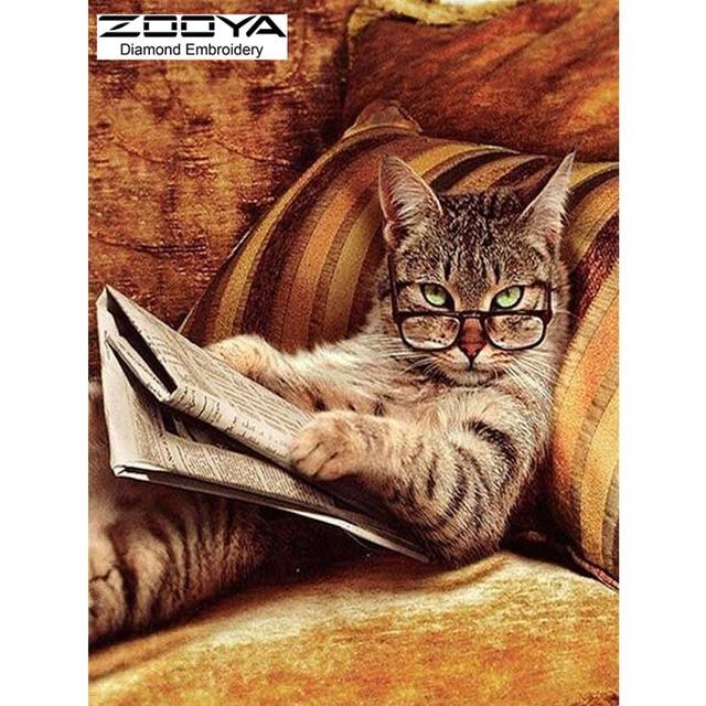Aliexpress Com Buy New Needlework Glasses Cat Lying On