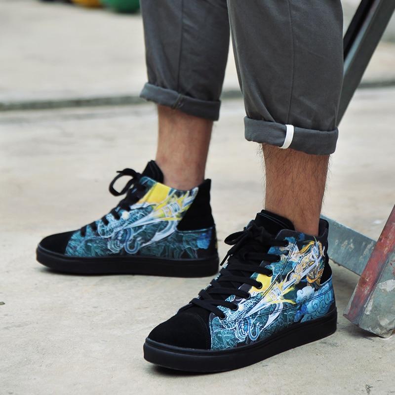 Homme Confortable D'origine Idx Chaussures Général Rue Travail Mode Oldschool Graffiti De W9ID2HE