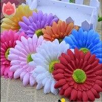 50 pcs Seda Handmake Grande girassol Artificial Decoração de Casamento Flor Cabeça Coroa de Flores DIY Caixa de Presente Scrapbooking Artesanato Flor Falsificada