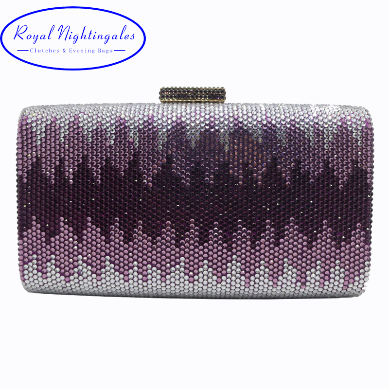 Hot New Large for Big Phone Crystal Box Clutch and Evening Bags for Womens Party Wedding
