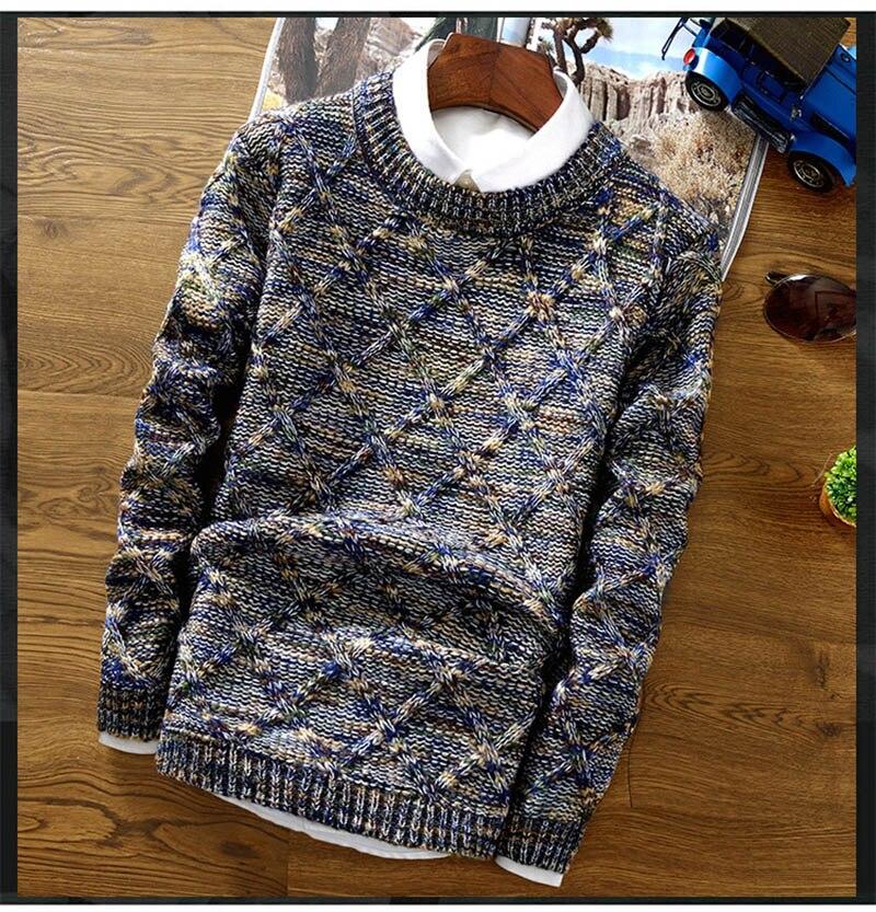 pulôver camisola masculina fino ajuste tricô suéteres