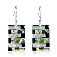 Trendy Geometric Shell Drop Earrings For Women High Quality Splice Color Bijoux Party Accessories
