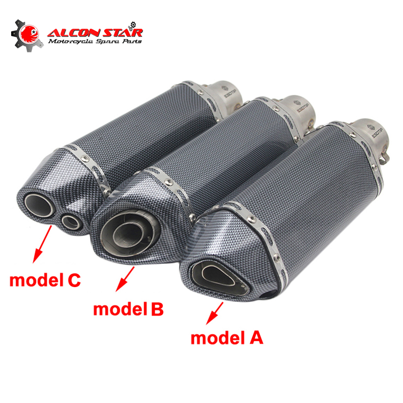 Alconstar-51mm Motorcycle Akrapovic Yoshimura Exhaust Muffler Pipe Dirt bike Escape Modified GY6 Scooter for Honda for Kawasaki speed scorpion akrapovic exhaust escape moto silencer 100cc 125cc 150cc gy6 scooter motorcycle cbr jog rsz dirt pit bike